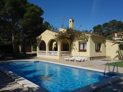Photo for Independent villa for 10 people, private swimming pool in Las Tres Calas