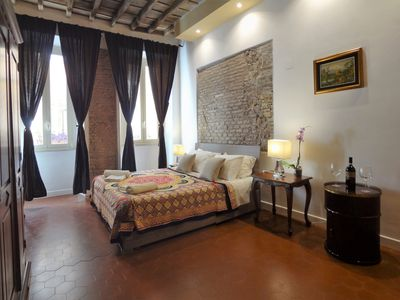Photo for Historical Center of Rome Trastevere-Piazza Navona, Bright-Confort- AC, WiFi