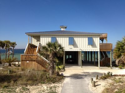 Photo for Waterfront Family Beach House: Dog-friendly, Private Beach &  Dock, Deck, Grill