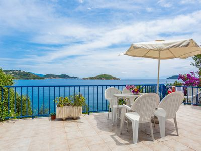 Photo for Sea View Apartment with terrace in Skiathos Town