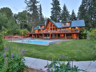 Photo for Heaven Can Wait Lodge ~ Stunning Lodge on 12 acres of riverfront