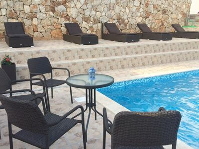 Photo for One bedroom apartment with terrace and sea view Mokalo, Pelješac (A-639-b)