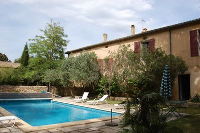 The Provençal house (south-west side) and the swimming pool