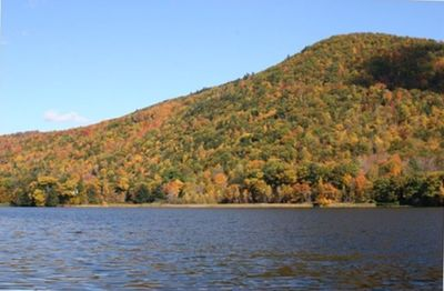 Lakeview: View of the Lake from the Private Dock, Fall Foliage