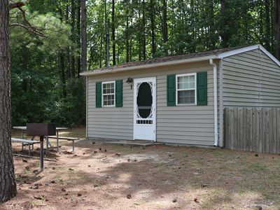 Photo for Ec Lake Gaston Cabin in natural woodland setting on beautiful Lake Gaston