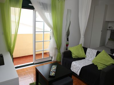 Photo for Green studio, Private Balcony, 100 meters, 2 min by foot, of Peniche Beach