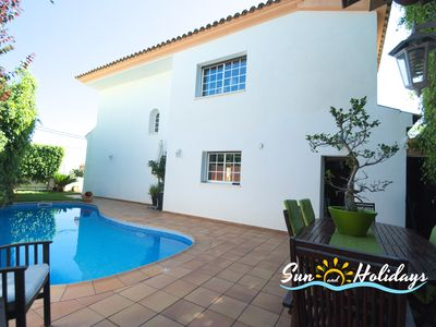 Photo for Villa Carmen with 4 bedrooms, 3 bathrooms, private swimming pool in Calafell