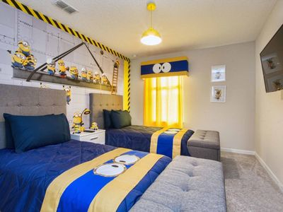 Photo for Beautifully Furnished Brand New Townhome w/ Mickey and Minion Themed Rooms!  Splash Pool, BBQ, WIFI!!