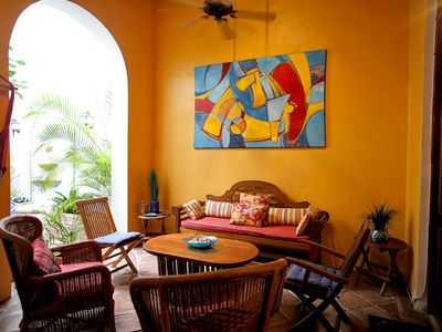 Photo for Tropical Patio Rental By Famous Ocean Walk