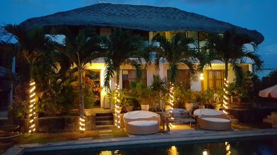 """Photo for 7 BR PRIVATE tropical VILLA ideal 7-14pax +kids, large pool, 8"""" to beach"""