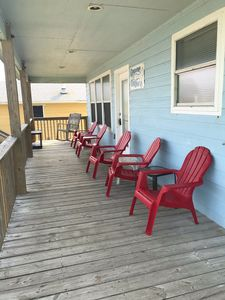 front deck with beach view