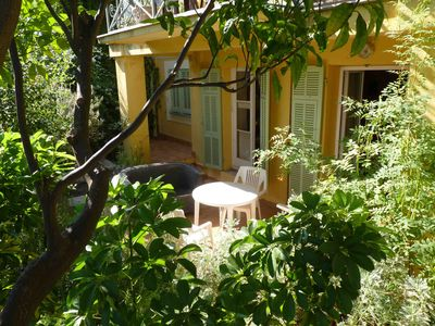 Photo for 2 room apartment, terrace, garden, in Menton, 800 m from the beach, wifi