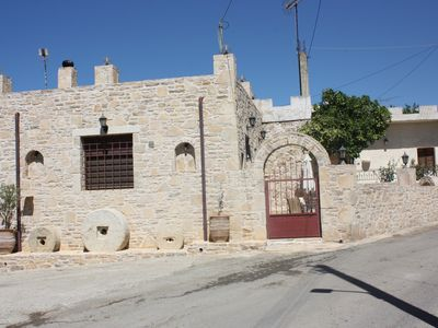 Photo for Villa Fabrika - Recent stone-built house in a traditional village of south Crete
