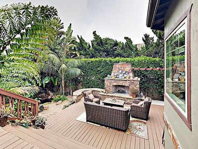 Photo for Carlsbad Koi Pond Outdoor Oasis, block to the sand for the whole family