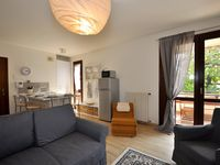 Great location and reasonably appointed apartment.