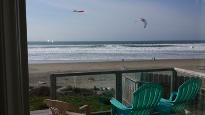 Photo for Oceanfront in Lincoln City Roads End - Literally Steps Away From the Beach!