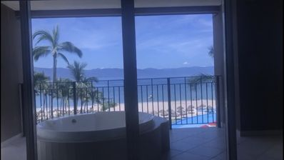 Photo for Beach front 3B apartment with the best location in Puerto Vallarta