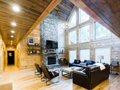 Photo for New! Party of Five Lodge! 5 Bdrms;4.5 Bths; Game Room; Hot Tub; Fire Ring