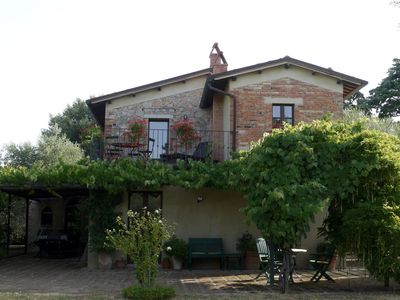 Photo for Countryside privacy & views, but within a medieval Tuscan village.
