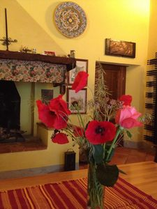 Photo for Comfortable apartment in an ancient Tuscan country house with terrace and garden