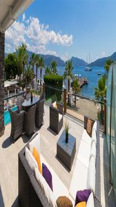 Photo for 3+1 fully furnished luxury sea view suite  in marmaris