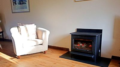 Cosy gas log burner to take away the chill