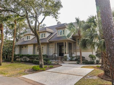 Photo for Gorgeous Updated Six Bedroom 3rd Row Ocean Sea Pines Home with Private Pool