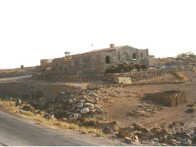 Photo for trajan guesthouse is an old castel bilt on the top of wadi mujib