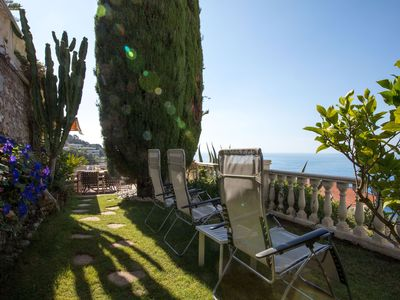 Photo for Luxury villa apartment with panoramic sea views and small private garden