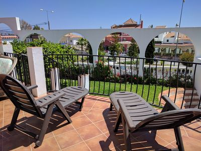 Photo for Bright villa in Nerja, terraces, garden and sea views. Ideal for families.