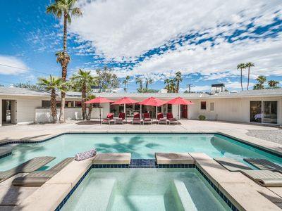 Photo for Iconic Mid-Century: Wind-Free 4BD/3BA, Pool, Spa, Views And Dog Friendly!