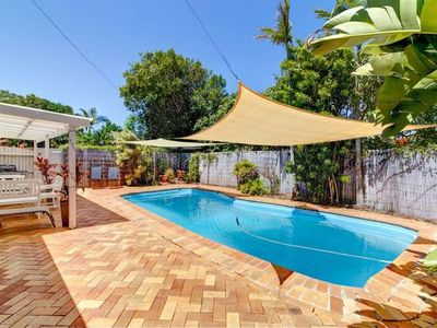 Photo for Noosa Heads 3 bed 2 bath house, quiet, solar heated pool 3km to Noosa Main Beach