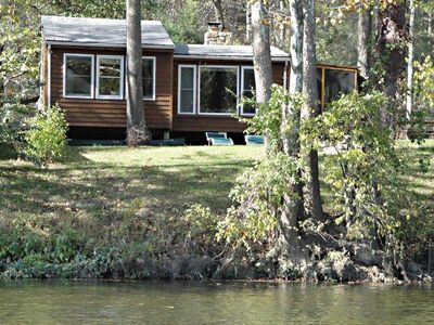 Photo for Riverfront, Hot tub, Fireplace, WiFi, Sat TV, Canoe, Firepit-The Stone Manor