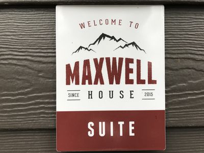 Suite sign at your private entrance