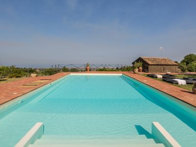Photo for RESIDENCE TRECASTAGNI, panoramic villa and dépendance with swimming pool