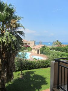 Photo for Close to beach and port, beautiful apartment with terrace in Corsica