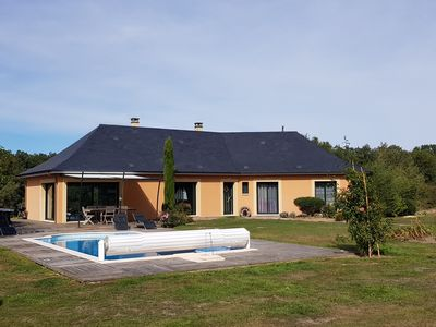 Photo for 134 km from PARIS West. Beautiful contemporary house with pool