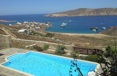Photo for Luxury 5 Bedrooms, 4 Bathrooms Up to 10 Guests, Villa Blance Mykonos, located 500 meters above Agios Sostis beach
