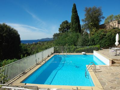 Photo for VILLA pool, view hill and sea 4 bedrooms, several terraces, free WIFI