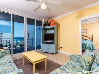 Photo for Bright, welcoming condo on Okaloosa Island! Steps to beach! Free beach chairs! Lazy river on-site!