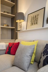 Cosy and intimate, the living space is perfect for cuddling up in.