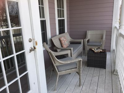 Enjoy time sitting on front porch