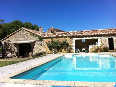 Photo for pretty Perigord house for 8, with private pool