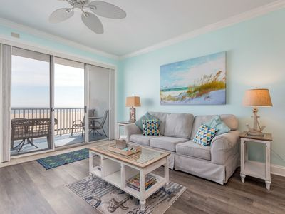 Photo for Direct oceanfront and on the boardwalk with a pool!
