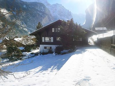 Photo for House in the center of Lauterbrunnen with Parking, Internet, Washing machine, Balcony (322885)