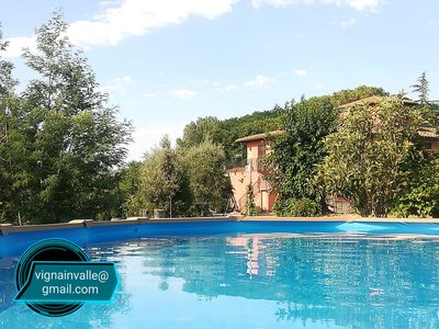 Photo for Country House with pool on the tuscany hills - Rondine