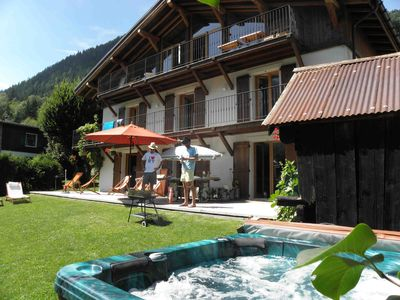 Photo for Restored farmhouse. 4 stars. South on Mont Blanc. 380 m2. 9 c. 8 SdBain