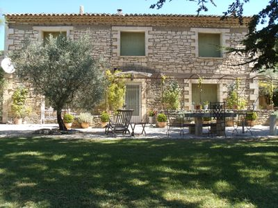 Photo for Magnificent stone mas completely renovated at the foot of the Luberon