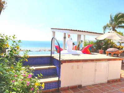 Photo for ★PENTHOUSE OCEANFRONT●steps to BOARDWALK and BEACH●Infinity POOLS●WIFI★BBQ★
