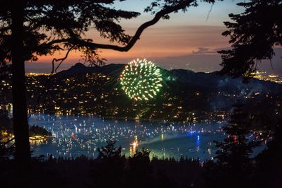 Stunning View of the 4th of July Fireworks Show from our home!